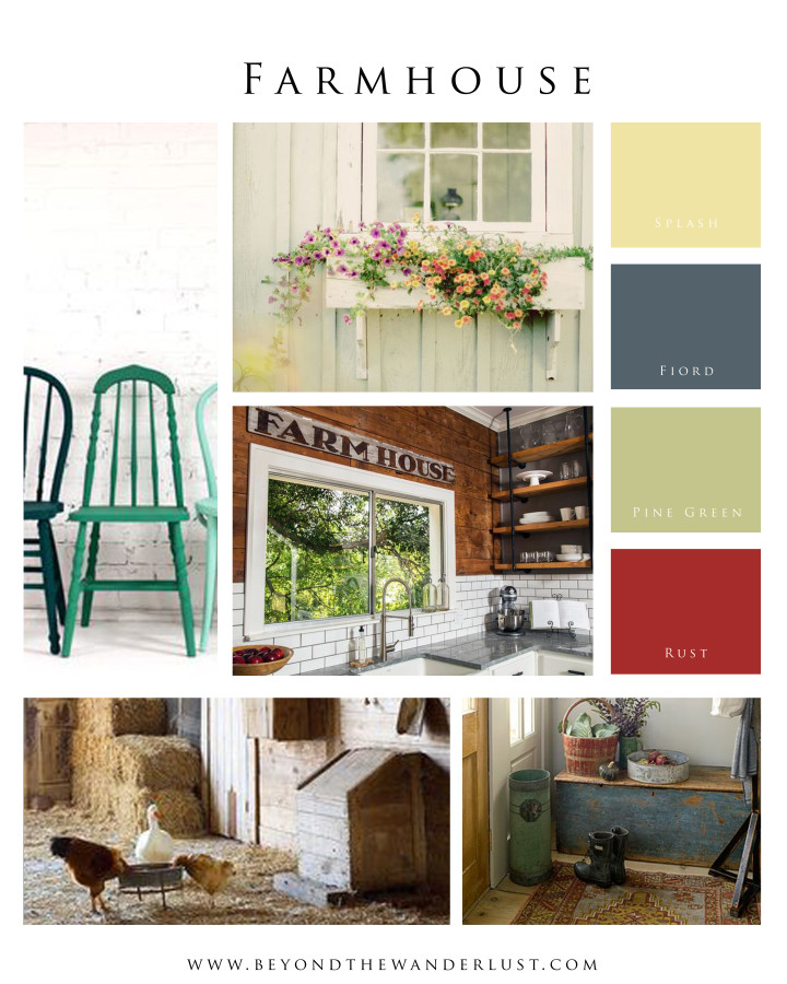 Beyond the Wanderlust Mood Board for FarmHouse