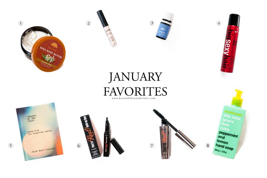 january beauty favorites, beyond the wanderlust