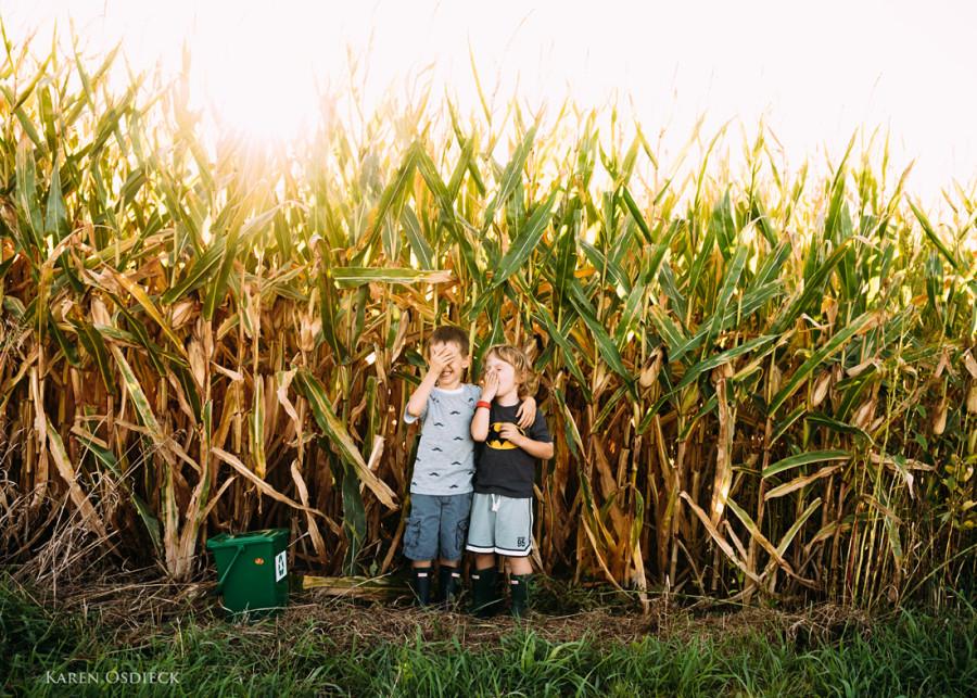 Boys cornfield hide web