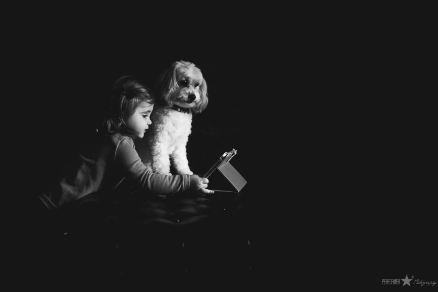 a girl and her dog pictures