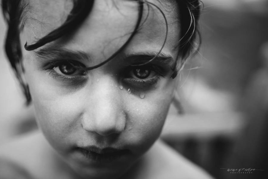 black and white kid portraits