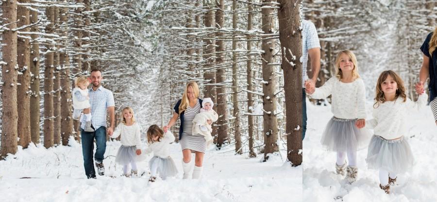 New York Fresh Snow Fall Family Session