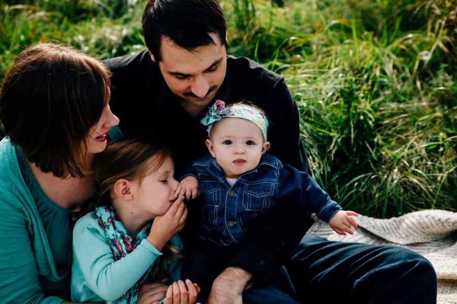 Flowery Field Side Family Session