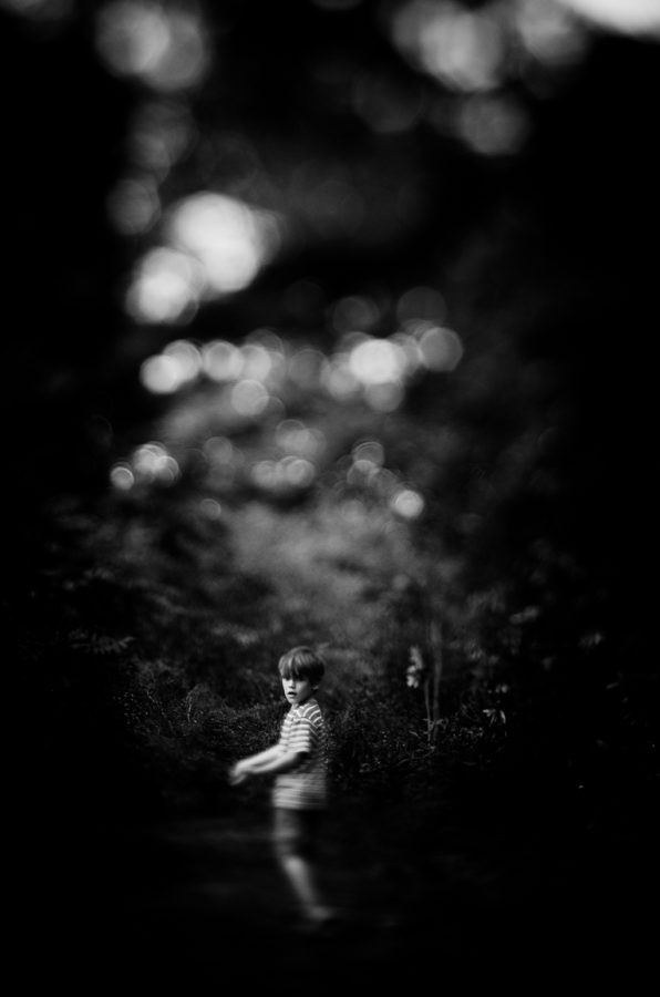 Myself: The Artist, Freelens image, black and white art portraits