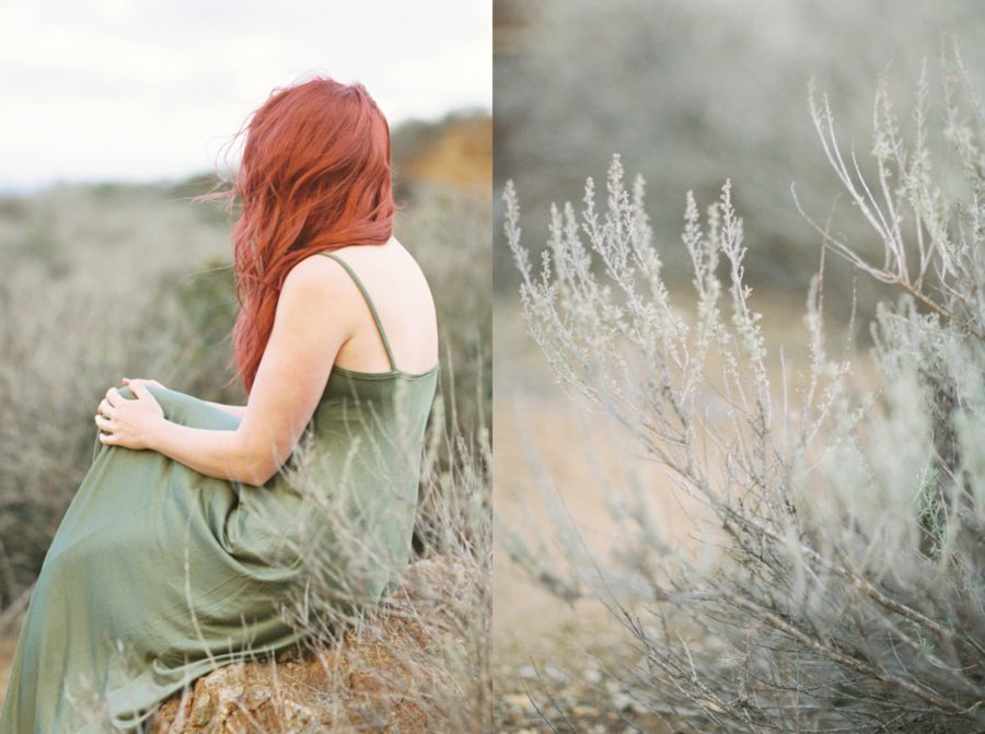 Film Portrait in a California Lavender Field , film photography, styled portraits