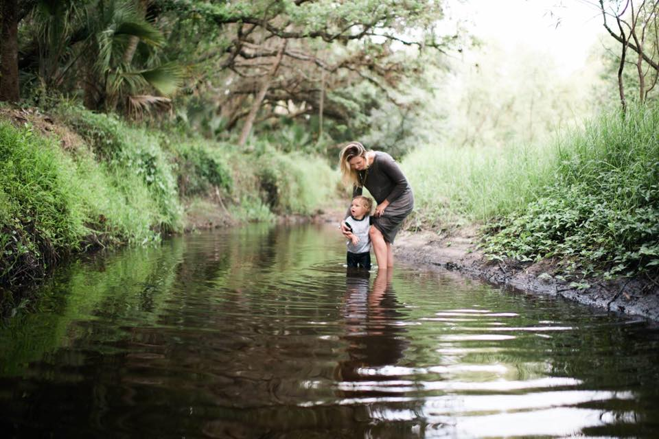 mother and son water pictures, the daily story