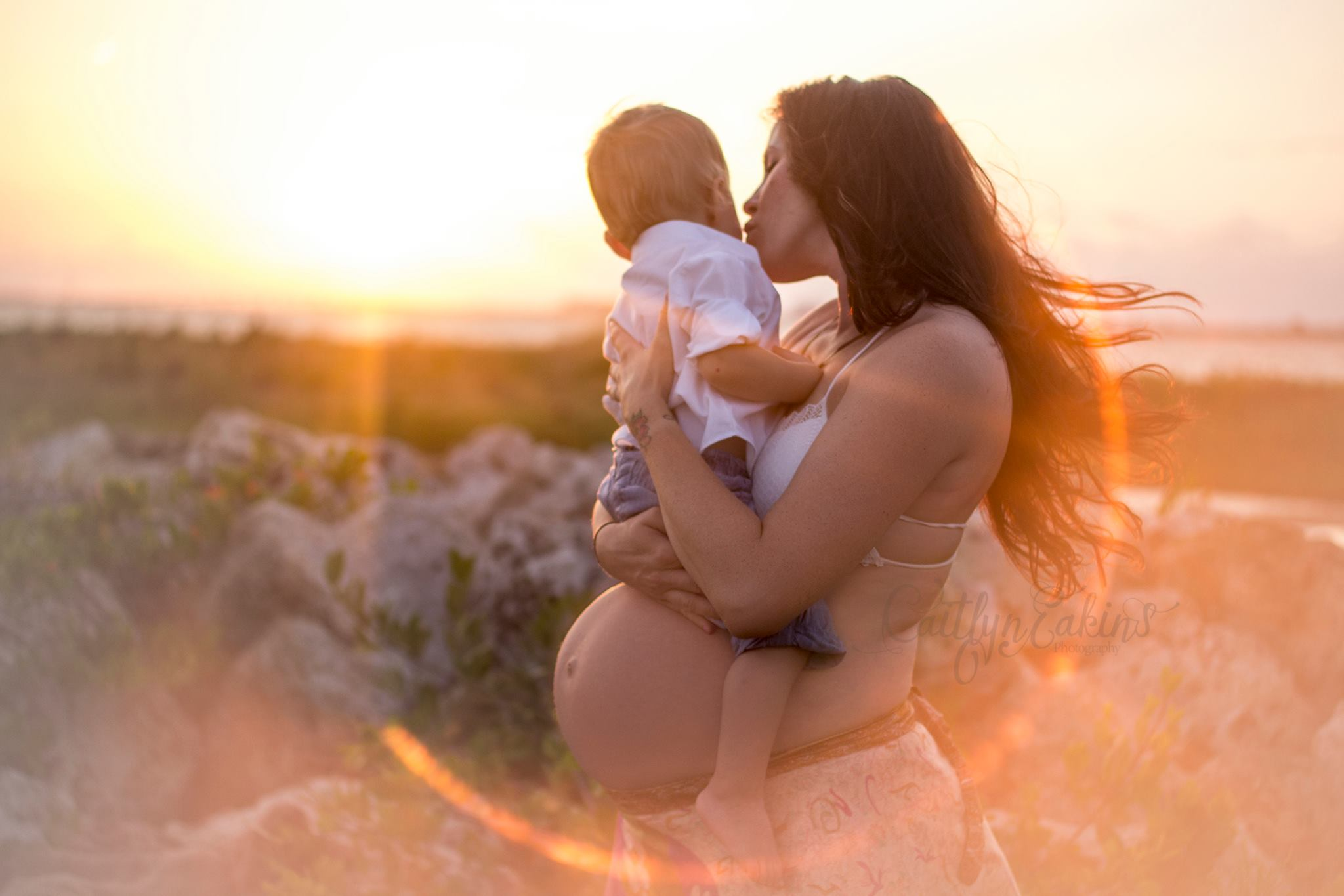 mother and son maternity pictures, daily fan favorite