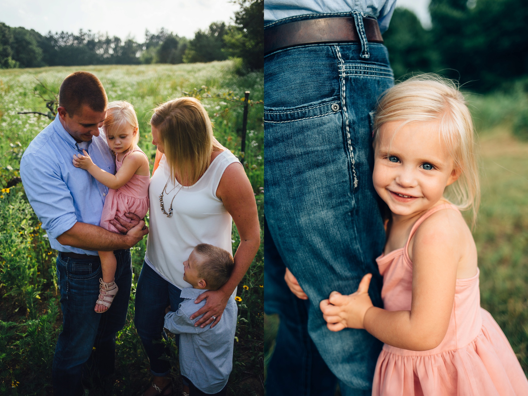 Field of Daisies Family Session, family of 4 poses, what to wear for family pictures
