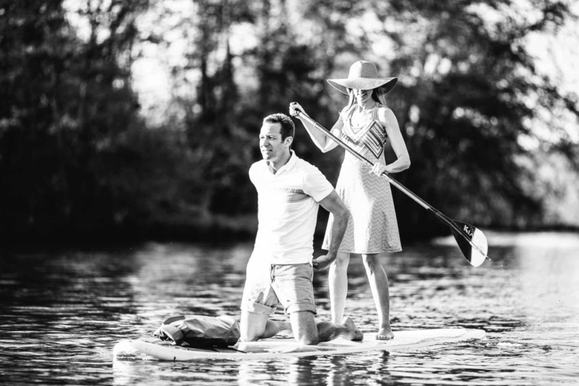 Chattahoochee River Paddle Board Engagement Session, ideas for engagement pictures, what to wear for  engagement pictures