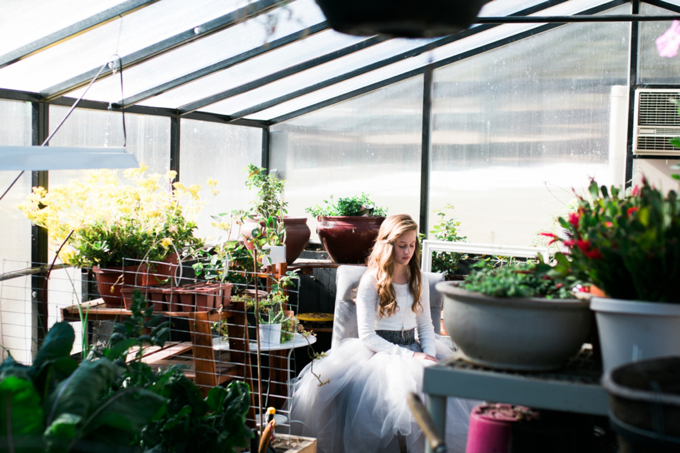styled teen pictures, teen picture ideas, tween pictures, Whimsical Greenhouse Portrait
