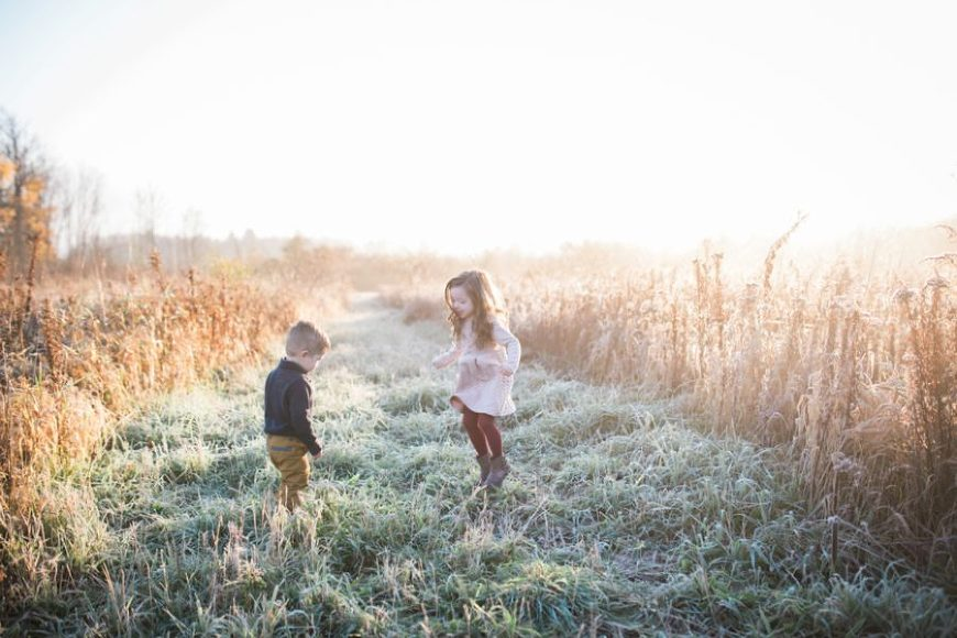 fall family pictures, what to wear for family pictures, Frosty Fall Sunrise Family