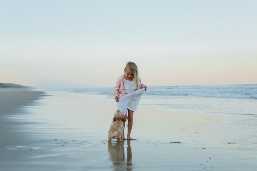family picture ideas, family of 4 pictures, beach pictures, And Puppy Makes Five, Family Beach Session