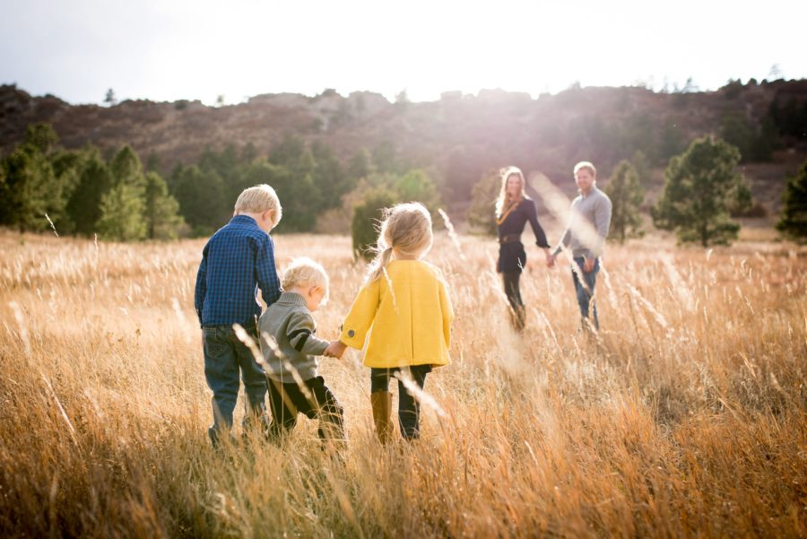 picture ideas for family of 5, family fall pictures, Family of Five Colorado Spring Session