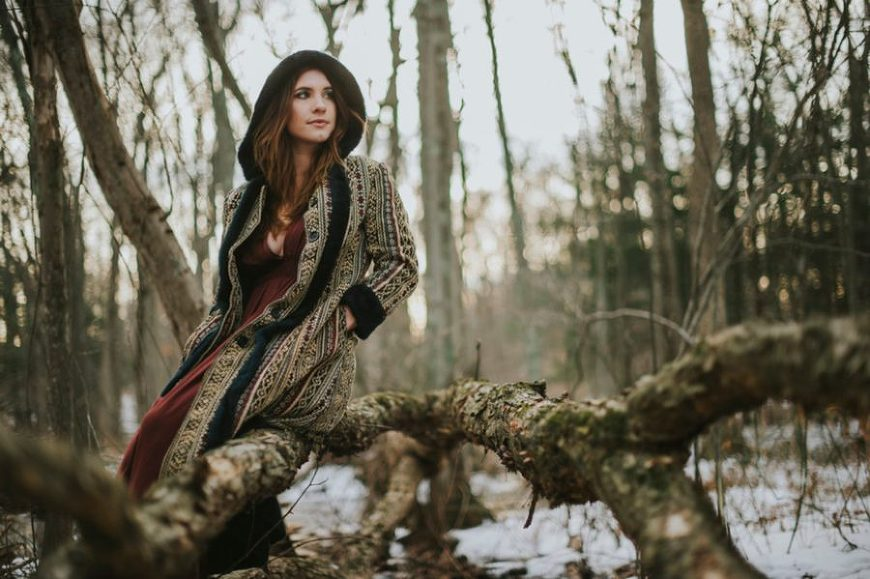 portraits photography, Bohemian Winter Portrait