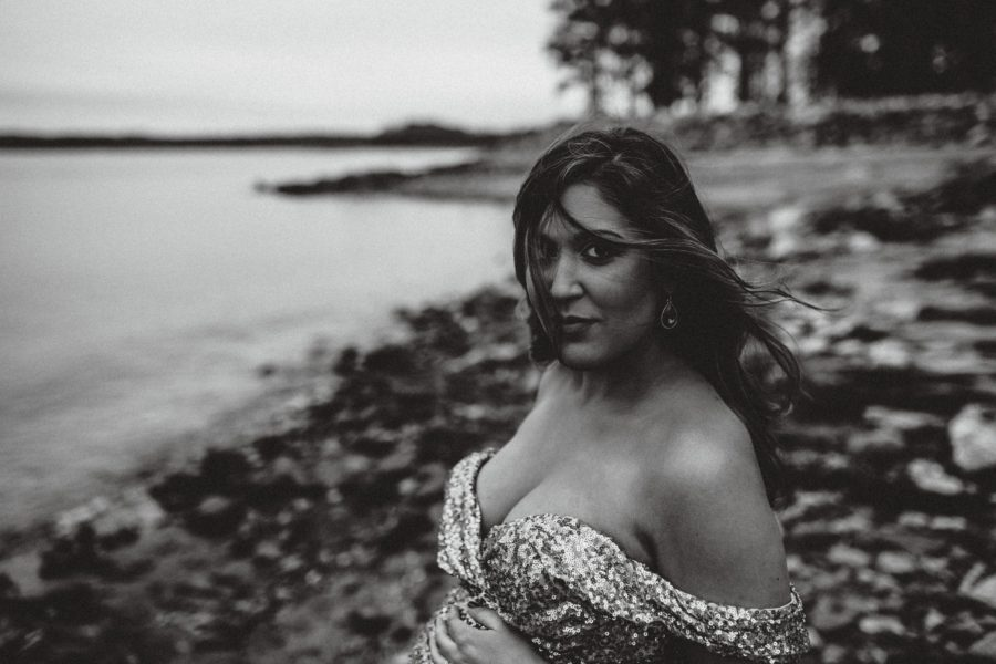 Glam Beach Maternity Session, beautiful gowns for maternity pictures