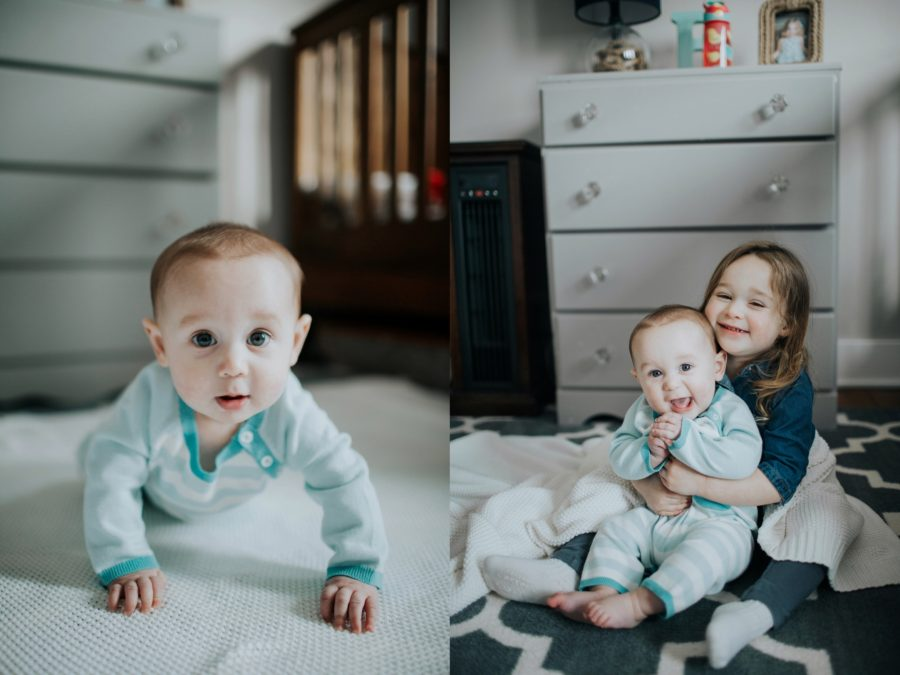 cute brother and sister pictures, Cozy in Home Family Session