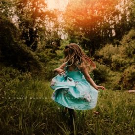 little girl dancing in the sun, daily fan favorite