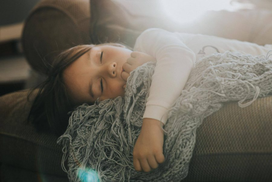 little girl sleeping on couch, daily fan favorite