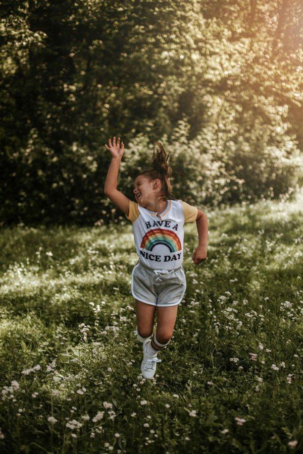 teen girl dancing in flowers, daily fan favorite