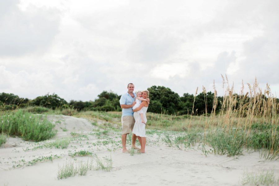 mom, dad and child together on beach, Intimate Beach Maternity Session
