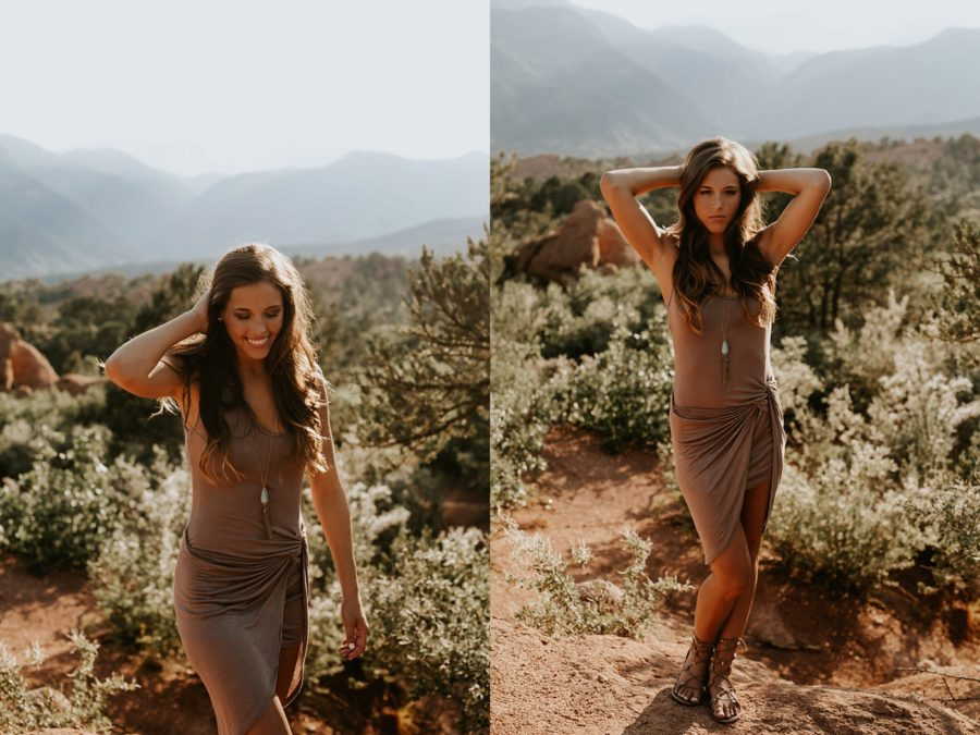 happy girl pictures, Garden of the Gods Senior Pictures in Colorado