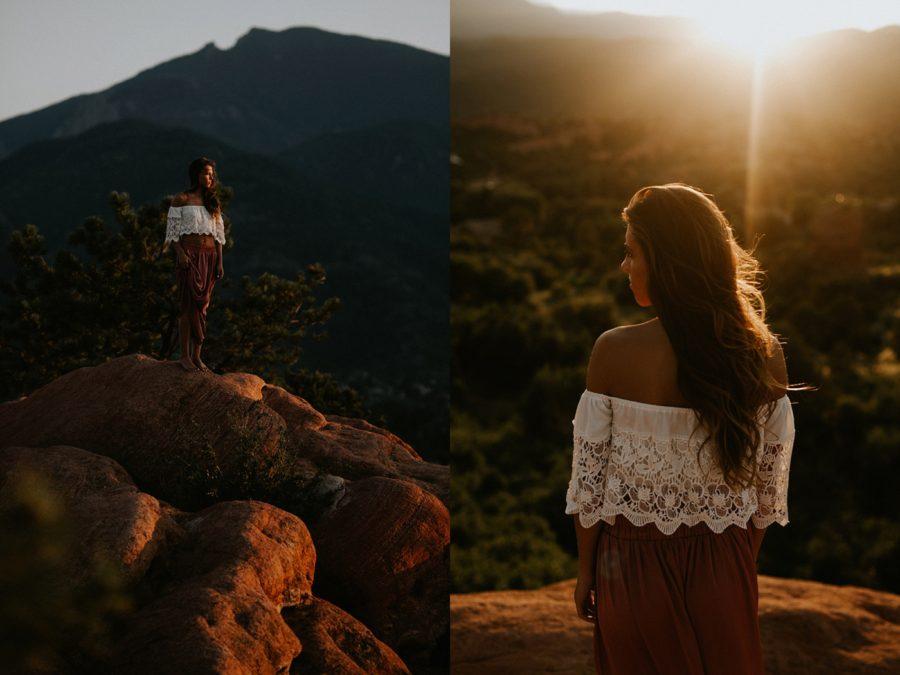 girl modeling, Garden of the Gods Senior Pictures in Colorado