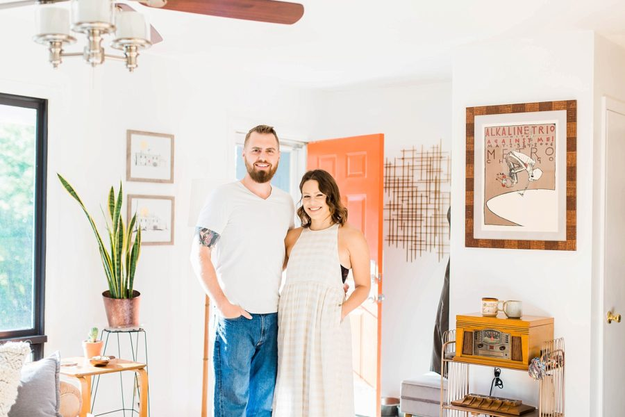 couple home pictures, Mid-Century Modern Couple Home Session in Missouri