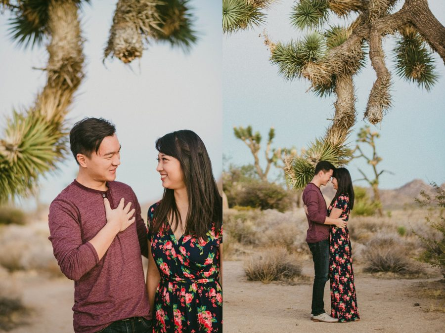 Couple in Desert, Joshua Tree Engagement Pictures in California