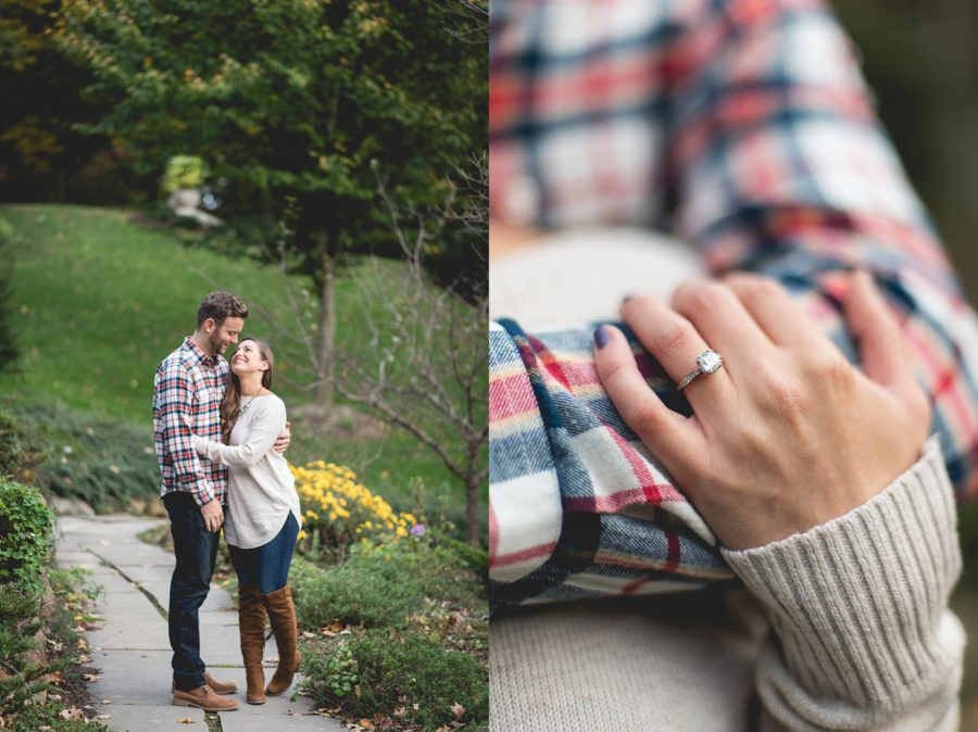 ring picture ideas, Autumn Engagement Pictures at Indianapolis Museum of Art