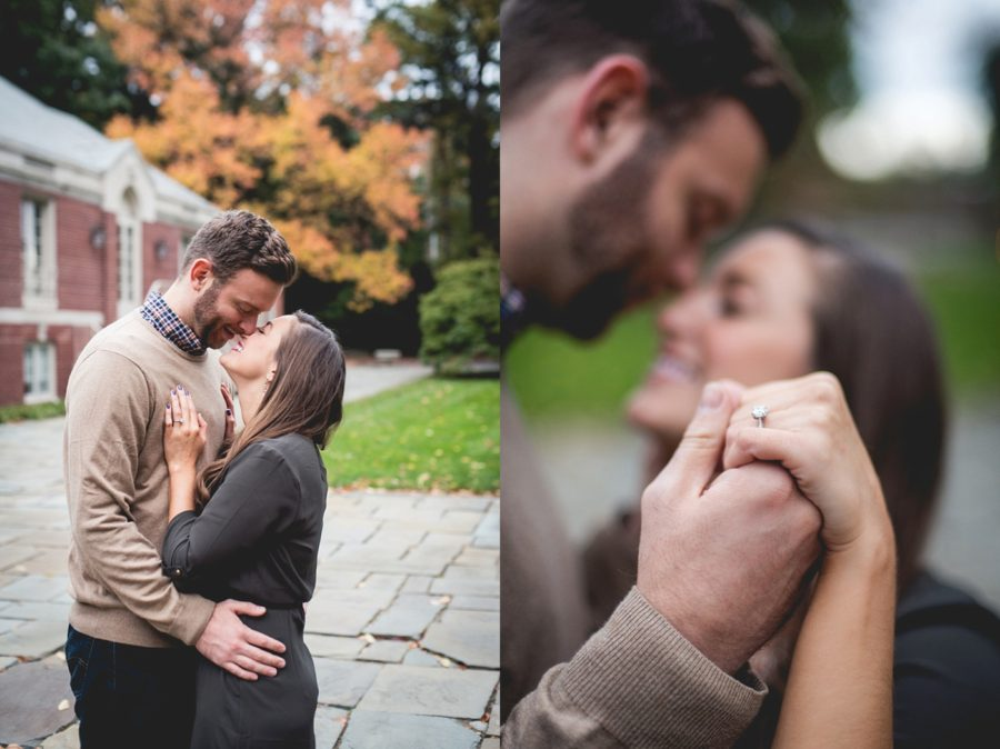 ring picture ideas, engagement poses, Autumn Engagement Pictures at Indianapolis Museum of Art