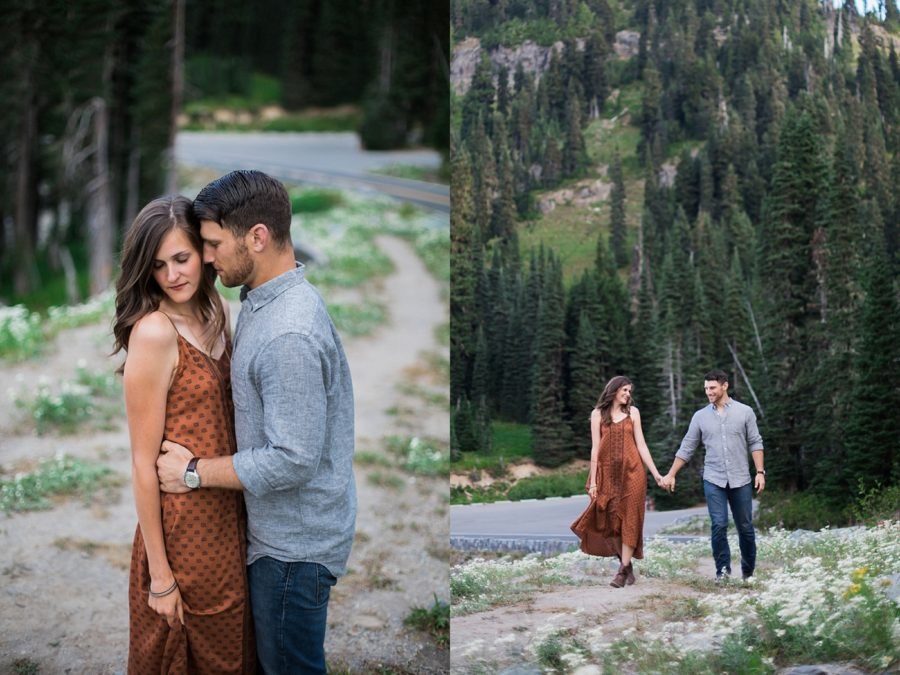 couple engagement session ideas, Adventurous Wilderness Anniversary Pictures in Washington