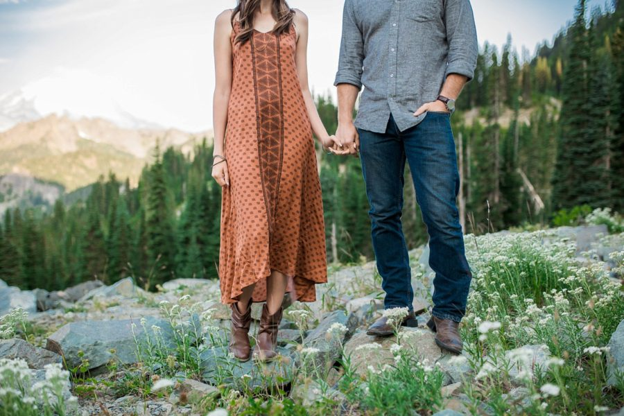 fun couple poses, Adventurous Wilderness Anniversary Pictures in Washington