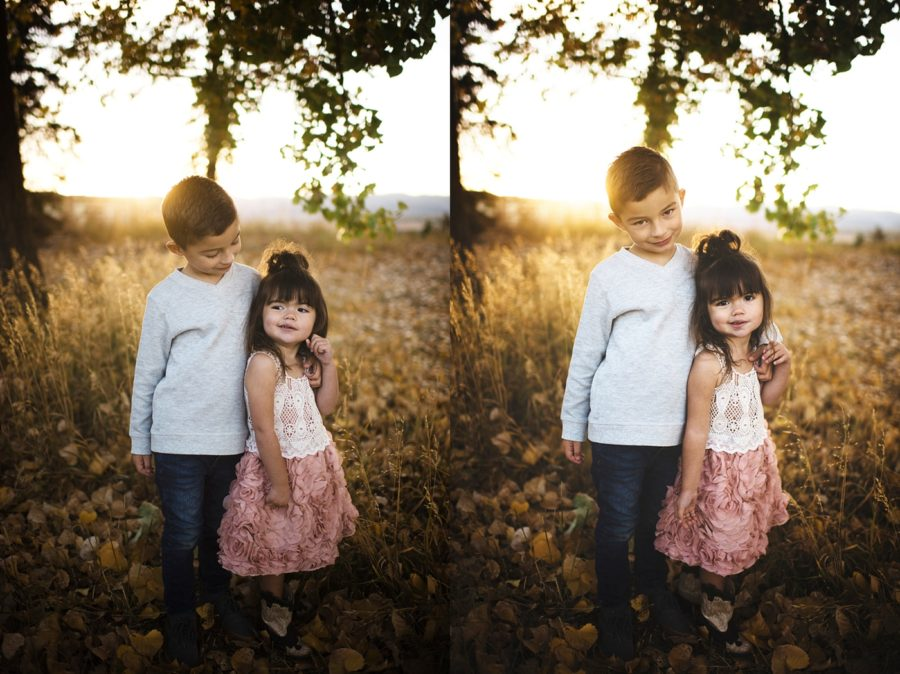brother and sister pictures, Sunset Family Pictures in Colorado