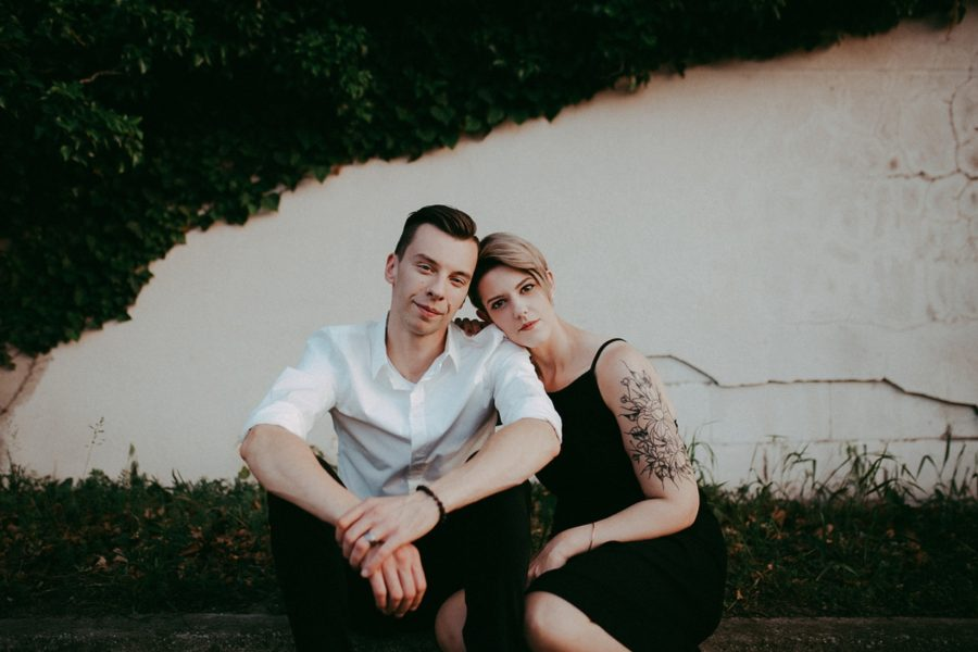 couple together, Urban Couple Session in Downtown Ontario