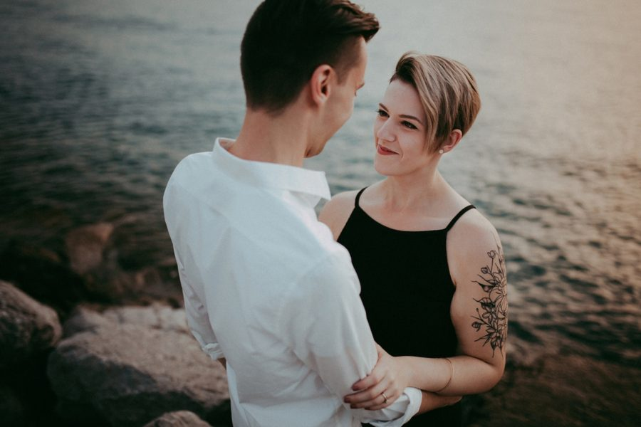 intimate couple poses, Urban Couple Session in Downtown Ontario