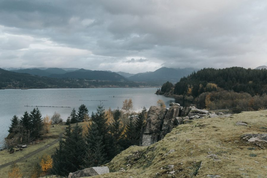 Romantic Columbia Gorge Engagement Pictures in Oregon