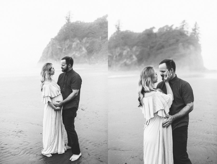 intimate couple maternity pictures, Ruby Beach Intimate Maternity Pictures in Washington
