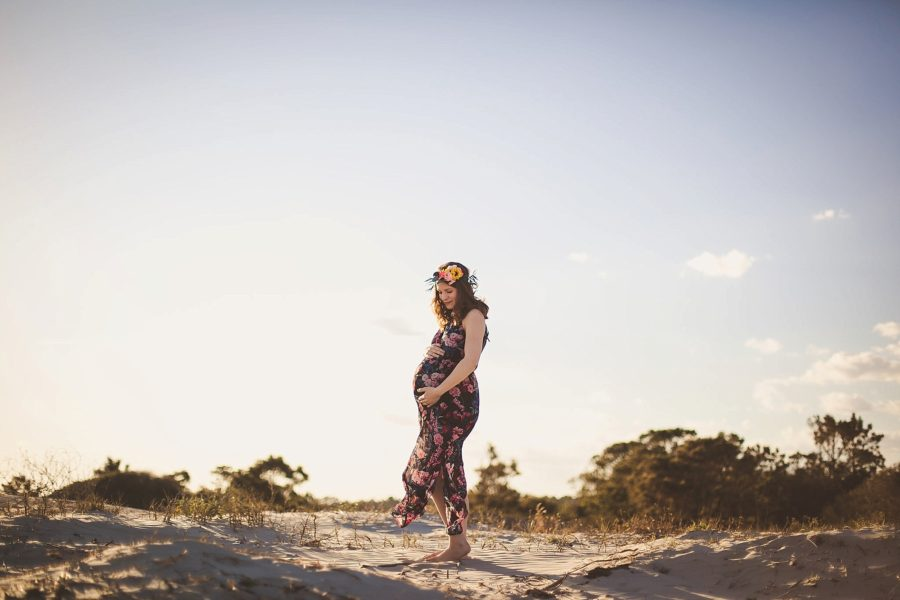maternity pictures on beach, Boho Beach Maternity Pictures in South Carolina
