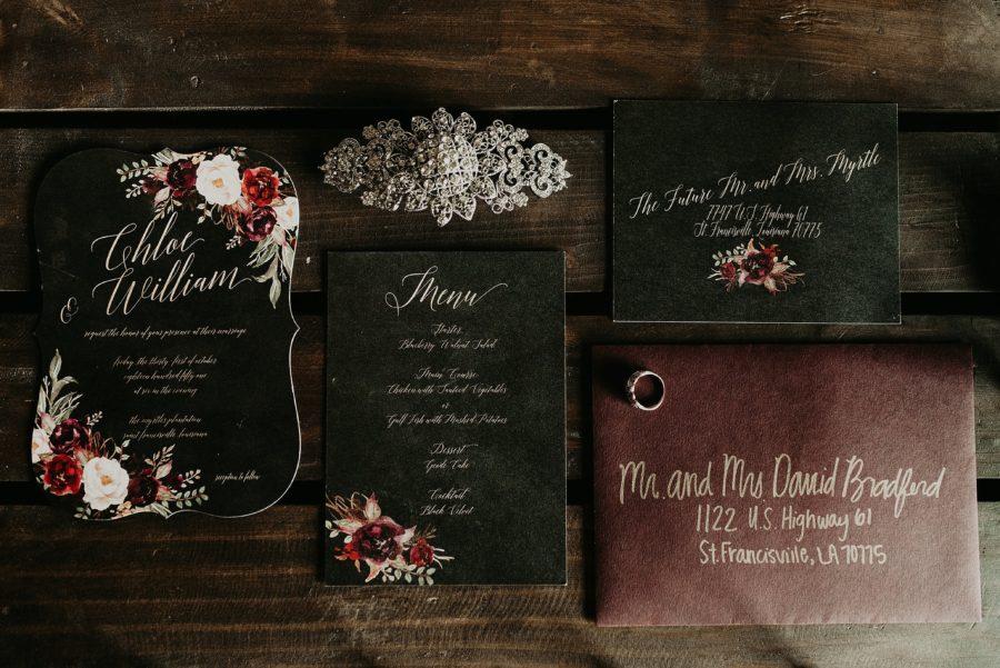 styled wedding details, Gothic Plantation Wedding Portraits in Louisiana