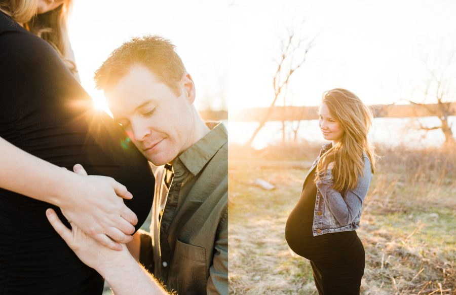 sunflare maternity poses, Twins Maternity Pictures in Ontario