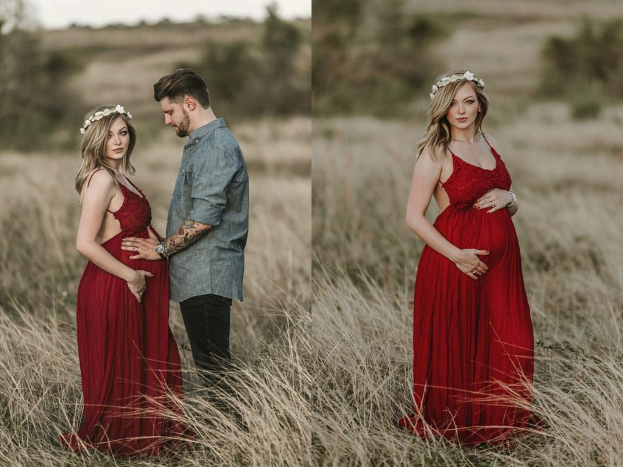 maternity gowns, what to wear for maternity pictures, Southern Charm Rustic Maternity Pictures in Texas