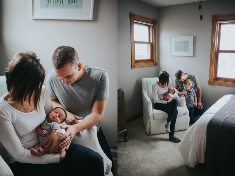 family with newborn, In-home newborn adoption lifestyle pictures