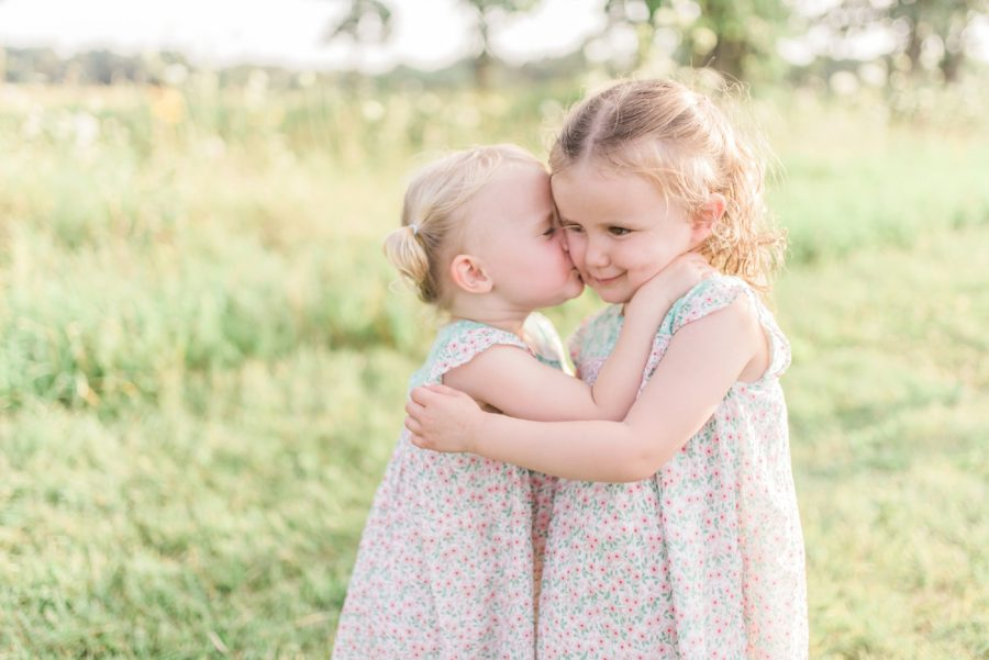 Sisters, Posing ideas for siblings, Light-Drenched Family Portraits in Wisconsin