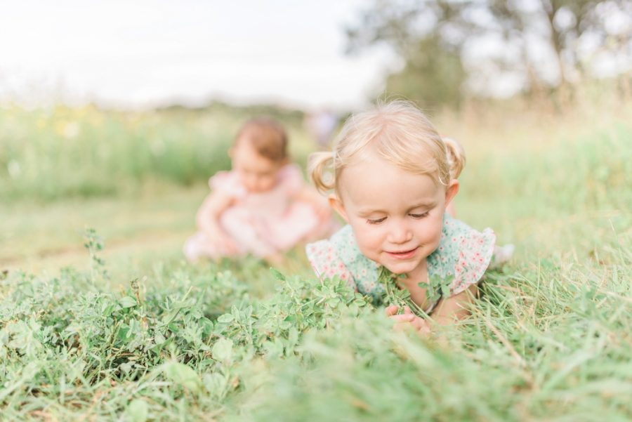 Child in field, portrait of girl, Light-Drenched Family Portraits in Wisconsin