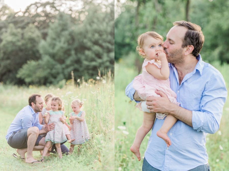 Family posing ideas, Father and daughter, Light-Drenched Family Portraits in Wisconsin