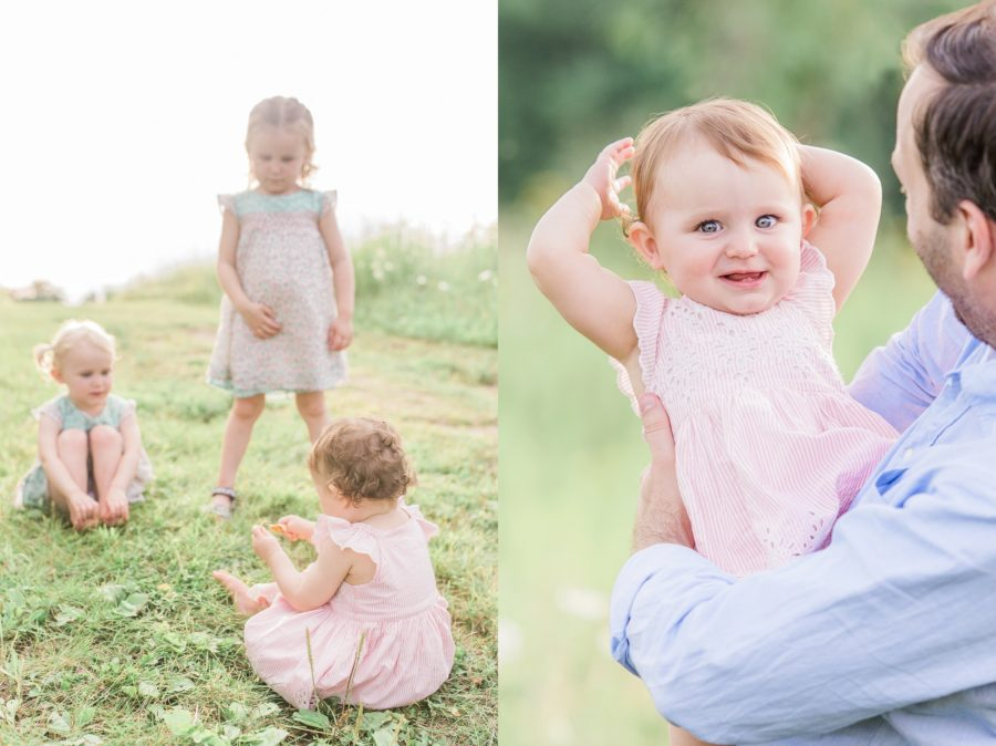 Family photos in field, Outdoor portraits, Light-Drenched Family Portraits in Wisconsin