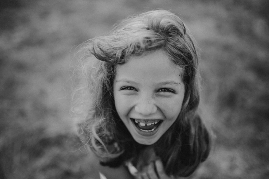 laughing girl, huge smile, Wild and Free Childhood Portraits