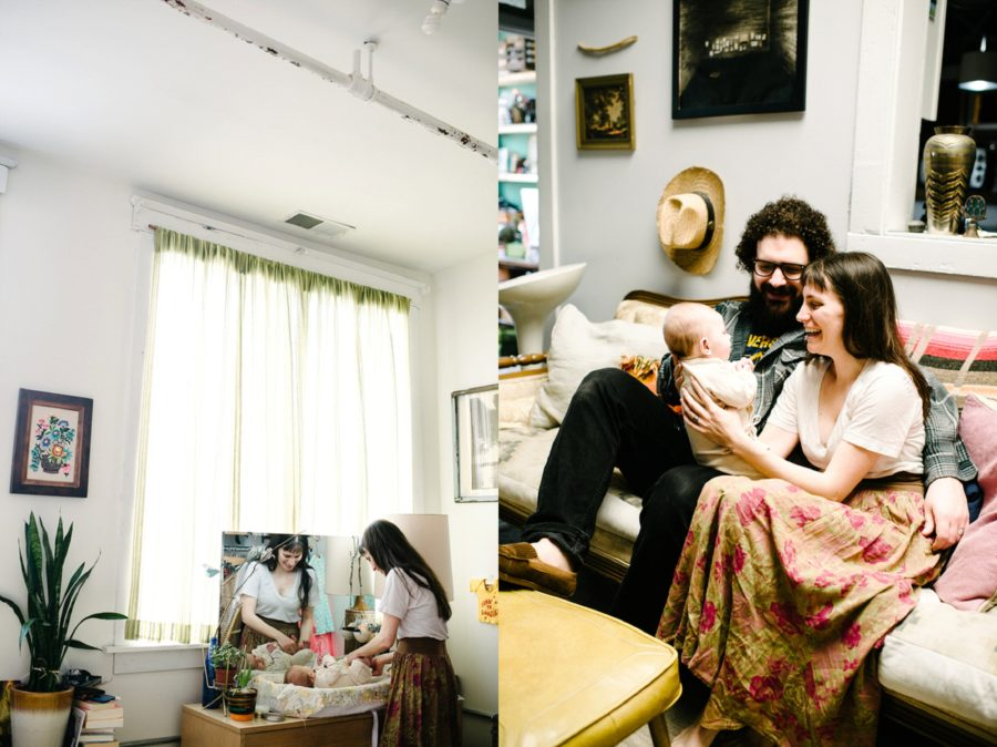 pictures of baby in home, Bohemian Studio Family Lifestyle Session