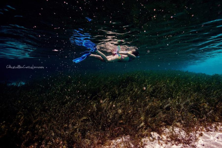 girl swimming, child snorkeling, underwater photography