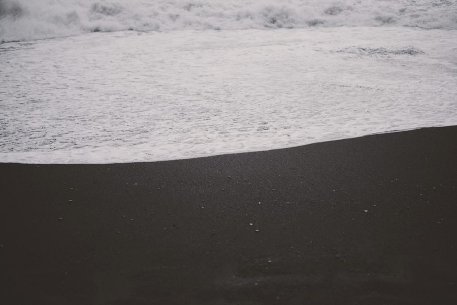 sea foam, black sand beach, Styled Elopement Pictures in Iceland